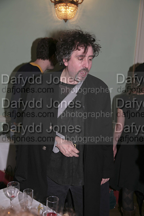 TIM BURTON, PARTY AT DARTMOUTH HOUSE AFTER A PREMIERE SCREENING OF PERFUME AT THE CURZON. LONDON.<br />5 December 2006. ONE TIME USE ONLY - DO NOT ARCHIVE  &copy; Copyright Photograph by Dafydd Jones 248 CLAPHAM PARK RD. LONDON SW90PZ.  Tel 020 7733 0108 www.dafjones.com