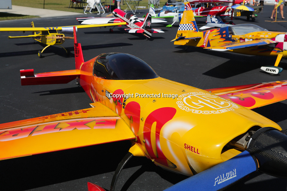 Model planes are pictured during Aviation Day Saturday October 11, 2014 at Wilmington International Airport in Wilmington, N.C. (Jason A. Frizzelle)