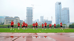 NANNING, CHINA - Saturday, March 24, 2018: Wales players during a training session at the Guangxi Sports Centre ahead of the 2018 Gree China Cup International Football Championship final match against Uruguay. (Pic by David Rawcliffe/Propaganda)