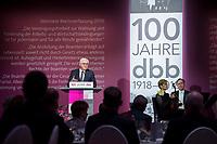 29 NOV 2018, BERLIN/GERMANY:<br /> Festakt mit Bundespraesident Steinmeier anl. des 100. Gruendungsjubilaeums des Beamtenbunds, dbb forum berlin<br /> IMAGE: 20181129-01-134<br /> KEYWORDS;´: Gründung, Jubiläum,