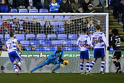 Ali Al-Habsi of Reading fumbles the ball but still manage a save - Mandatory by-line: Jason Brown/JMP - 14/02/2017 - FOOTBALL - Madejski Stadium - Reading, England - Reading v Brentford - Sky Bet Championship
