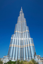 Detail view of Burj Khalifa skyscraper , world's tallest building in Dubai United Arab Emirates