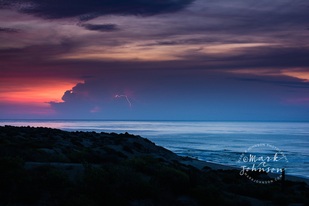 Thunderstorm over the Gulf of California, Baja California Sur, Mexico