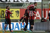 """Esultanza Stephan El Shaarawi Milan<br /> Celebration<br /> Parma 29/09/2012 Stadio """"Tardini""""<br /> Football Calcio Serie A 2012/13<br /> Parma v Milan<br /> Foto Insidefoto Paolo Nucci"""