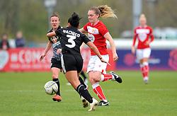 Mayumi Pacheco of Reading Women competes with Lucy Graham of Bristol City- Mandatory by-line: Nizaam Jones/JMP- 31/03/2019 - FOOTBALL - Stoke Gifford Stadium - Bristol, England - Bristol City Women v Reading Women - FA Women's Super League 1