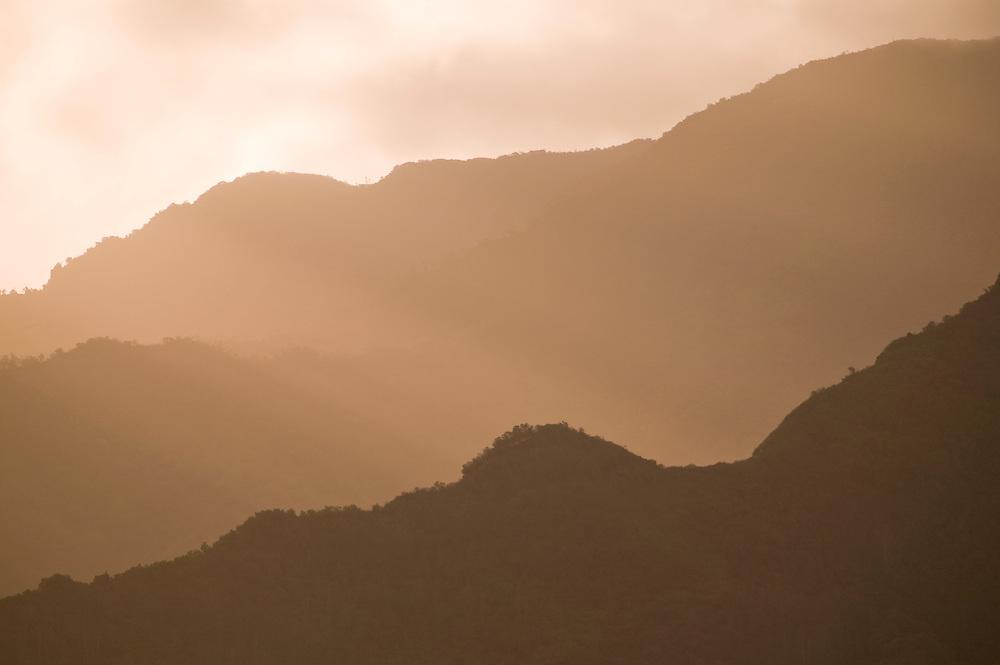 Waianae Mountain Range from Kunia