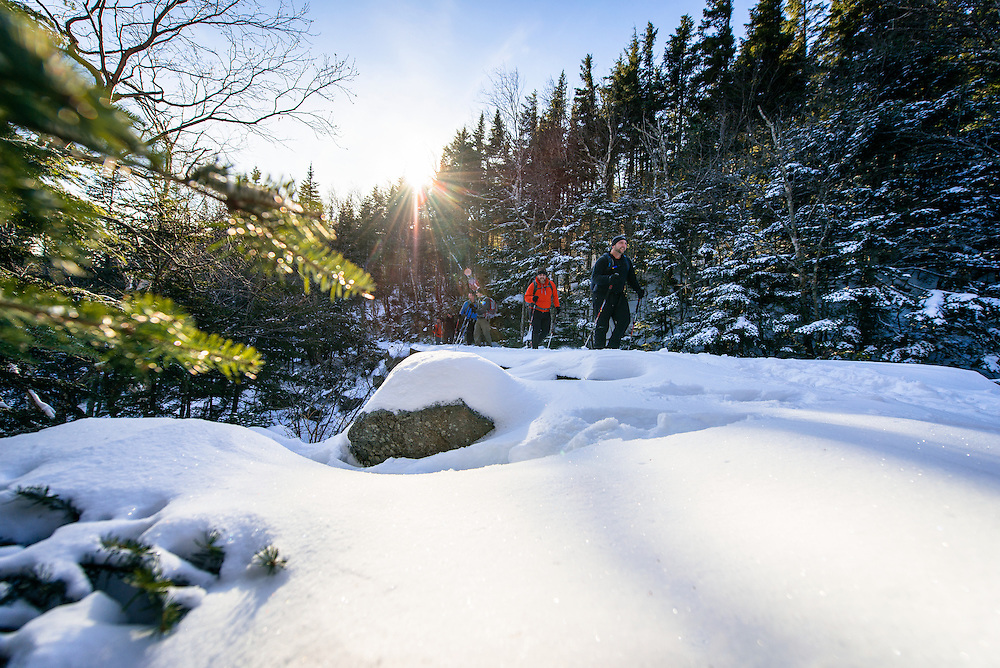 The Maggio's and Gagne's hiking up to Tuckerman's Ravine, NH