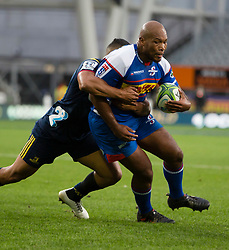 Stormers' Ramone Samuels looks for the Highlanders' try line in the Super Rugby match, Forsyth Barr Stadium, Dunedin, New Zealand, Friday, March 9, 2018. Credit:SNPA / Adam Binns ** NO ARCHIVING**