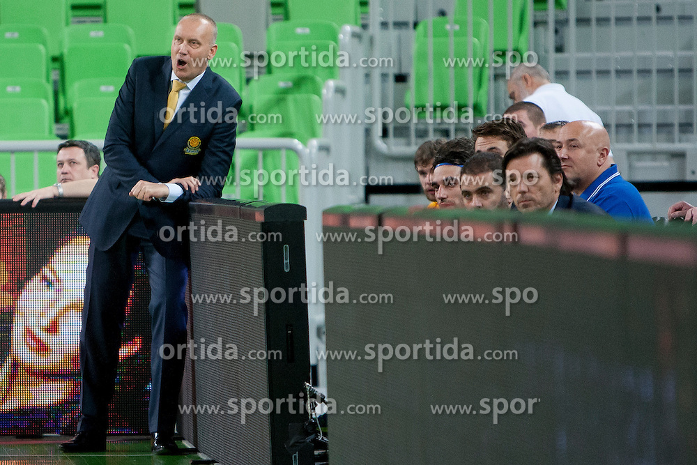 Rimas Kurtinaitis, head coach of BC Khimki Moskva during basketball match between KK Union Olimpija Ljubljana (SLO) and BC Khimki Moscow (RUS) in Round 2 of EuroCup 2014/15, on October 22, 2014 in Arena Stozice, Ljubljana, Slovenia. Photo by Urban Urbanc / Sportida