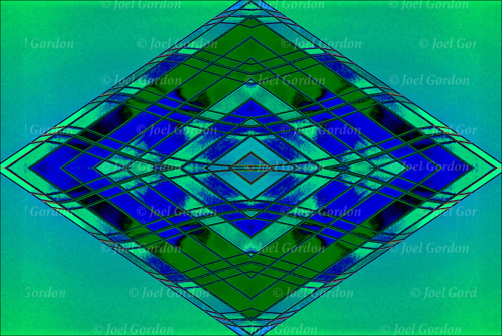 Abstract  patterns of geometic design patterns, colors and textures.