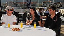 Hannah White hosts WMRT This Morning with her guests Phil Robertson and Damien Iehl. Photo: Chris Davies/WMRT