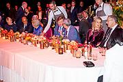 De Kaapverdische president Jorge Carlos de Almeida Fonseca is in Nederland voor een tweedaags staatsbezoek.<br /> <br /> The Cape Verdean president Jorge Carlos de Almeida Fonseca is in the Netherlands for a two-day state visit.<br /> <br /> Op de foto On the photo:  Koning Willem-Alexander , koningin Maxima en prinses Beatrix ontmoeten de Kaapverdische president Jorge Carlos de Almeida Fonseca en diens echtgenote bij de Cruisterminal voor een concert.<br /> <br /> King Willem-Alexander, Queen Maxima and Princess Beatrix meet the Cape Verdean President Jorge Carlos de Almeida Fonseca and his wife at the Cruise Terminal for a concert.