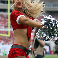 Cheerleader during an NFL football game between the San Francisco 49ers  and the Tampa Bay Buccaneers on Sunday, December 15, 2013 at Raymond James Stadium in Tampa, Florida.. (Photo/Alex Menendez)
