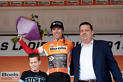 Lorena Wiebes (NED) is the new race leader after Boels Ladies Tour 2019 - Stage 2, a 113.7 km road race starting and finishing in Gennep, Netherlands on September 5, 2019. Photo by Sean Robinson/velofocus.com