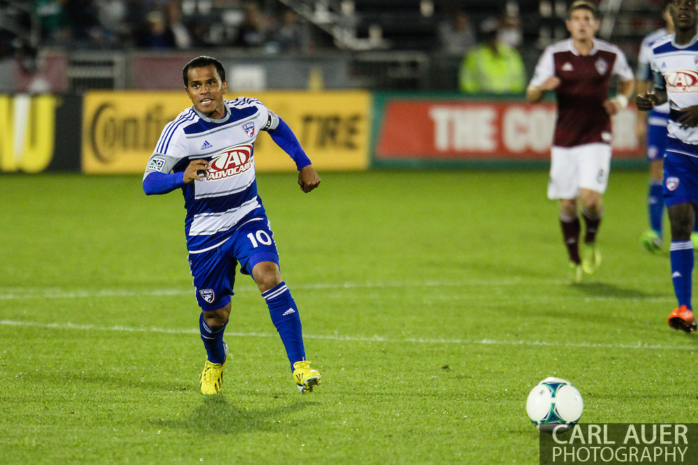 September 14th, 2013 -  FC Dallas midfielder David Ferreira (10) chases after the ball in the second half of the MLS Soccer game between FC Dallas and the Colorado Rapids at Dick's Sporting Goods Park in Commerce City, CO