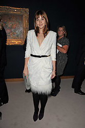 The grandaughter of Mikhail Gorbachev ANASTASIA VIRGANSKAYA at a cocktail party and auction to launch the forthcoming celebrations for Mikhail Gorbachev's 80th birthday held at Christie's, 8 King Street, London on 3rd February 2011.