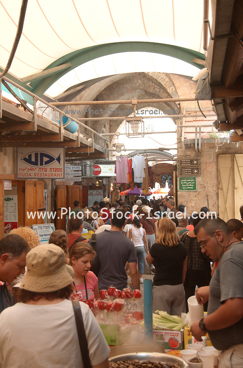 Israel, Acre, The Bazaar - market place in the old city