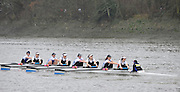 London, Great Britain,   Imperial College BC A, rowing past Chiswick Pier, during the 2012 Head of the River Race, raced over Rowing Course Championship course,  Mortlake to Putney  4.25 Miles, on the River Thames.   Saturday  03/03/2012} [Mandatory Credit: © Peter Spurrier/Intersport Images]