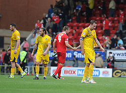 Disappointment for Bristol Rovers - Mandatory byline: Neil Brookman/JMP - 07966386802 - 29/08/2015 - FOOTBALL - Matchroom Stadium -Leyton,England - Leyton Orient v Bristol Rovers - Sky Bet League Two