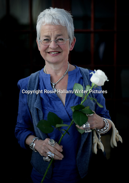 Hay Literary Festival<br /> Children's author and creator of the Tracy Beaker series, Jacqueline Wilson, speaking at the Hay Festival.<br /> <br /> Rosie Hallam/Writer Pictures<br /> contact +44 (0)20 822 41564<br /> info@writerpictures.com<br /> www.writerpictures.com