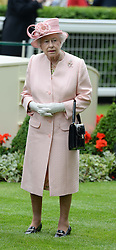 HM The QUEEN at Day 1 of the 2013 Royal Ascot Racing Festival at Ascot Racecourse, Ascot, Berkshire on 18th June 2013.