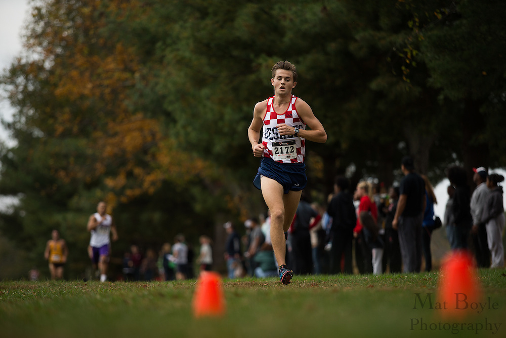 DeSales University Luca Russo - Collegiate Track Conference  Cross-Country Men's Championship at Gloucester County College in Sewell, NJ on Saturday October 19, 2013. (photo / Mat Boyle)