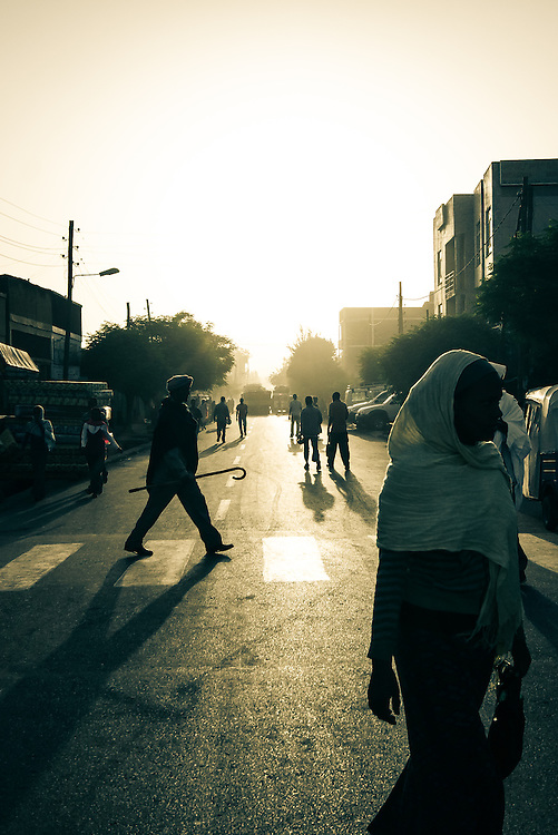 The bustling city of Bahir Dar gets going in the early morning light.