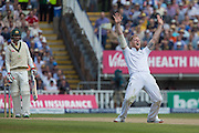 Ben Stokes of England  with an appeal during the 3rd Investec Ashes Test match between England and Australia at Edgbaston, Birmingham, United Kingdom on 31 July 2015. Photo by Phil Duncan.