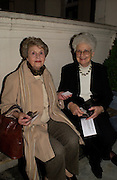 Mrs. Anne Balfour and Princess Lubomirski, Dazed and Abused by Kinvara Balfour, the Canal Cafe theatre. London W2. 4 October 2004. ONE TIME USE ONLY - DO NOT ARCHIVE  © Copyright Photograph by Dafydd Jones 66 Stockwell Park Rd. London SW9 0DA Tel 020 7733 0108 www.dafjones.com