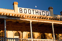 Moonrising Over Booth and Company Building, Old Sacramento, California
