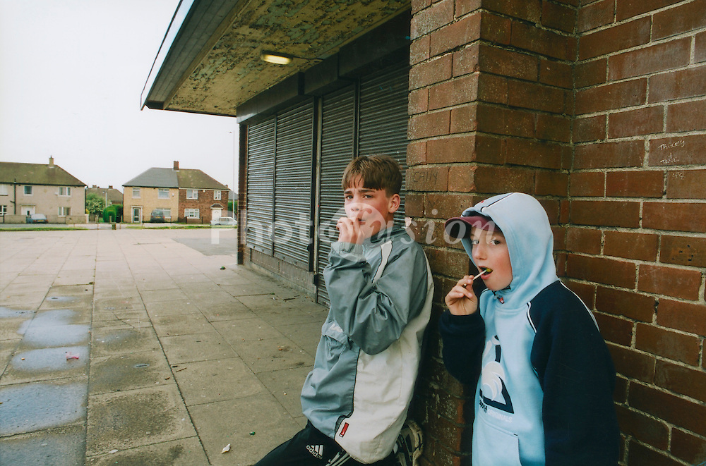 Kids hanging around closed shops; Bradford council estate
