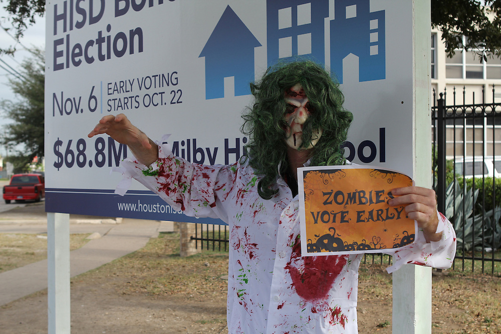 Vote Early Zombie at Milby High School