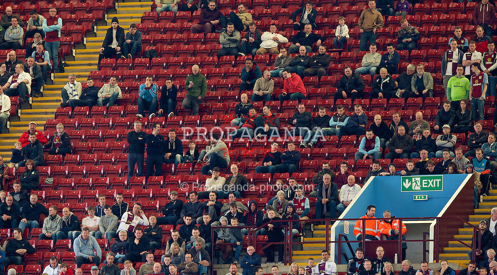 BIRMINGHAM, ENGLAND - Saturday, April 19, 2014: Empty seats as Aston Villa take on Southampton during the Premiership match at Villa Park. (Pic by David Rawcliffe/Propaganda)