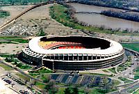 Aerial photograph of the RFK Stadium outside Washington, DC, Original Home of the Washington Redskins