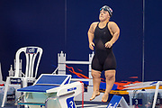 Ellie Simmonds of Great Britain prepares for  the Women's 400 m Freestyle S6 during the World Para Swimming Championships 2019 Day 1 held at London Aquatics Centre, London, United Kingdom on 9 September 2019.