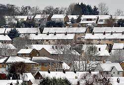 © Licensed to London News Pictures.17/03/2018<br /> ORPINGTON, UK.<br /> Snow covered homes in Orpington, kent.<br /> Photo credit: Grant Falvey/LNP
