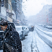 Istanbul winter and snowfall 2013