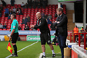 Walsall manager Jon Whitney urges his team on during the EFL Sky Bet League 1 match between Walsall and Peterborough United at the Banks's Stadium, Walsall, England on 16 September 2017. Photo by Nigel Cole.