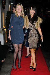 Lisa Faulkner and Katie Piper arrives at the Daily Mail Inspirational Woman of The Year Awards, London, Wednesday January 18, 2012. Photo By i-Images