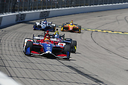 July 8, 2018 - Newton, Iowa, United States of America - MATHEUS LEIST (4) of Brazil battles for position during the Iowa Corn 300 at Iowa Speedway in Newton, Iowa. (Credit Image: © Justin R. Noe Asp Inc/ASP via ZUMA Wire)