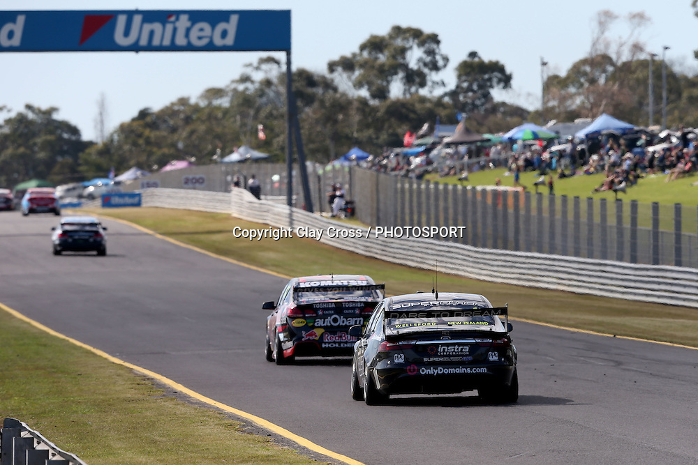 Andre Heimgartner & Ant Pedersen (Super Black Racing Ford). 2015 Wilson Security Sandown 500. V8 Supercars Championship Round 9. Sandown International Raceway, Victoria. Sunday 13 September 2015. Photo: Clay Cross / photosport.nz
