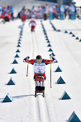 KLEBL Chris CAN LW11 competing in the ParaSkiDeFond, Para Nordic Skiing, Sprint at  the PyeongChang2018 Winter Paralympic Games, South Korea.