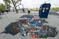 A 3D Alien Landscape painting to celebrate new TV series of Dr Who.