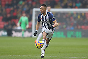 West Bromwich Albion defender Kieran Gibbs (3) during the Premier League match between Watford and West Bromwich Albion at Vicarage Road, Watford, England on 3 March 2018. Picture by Bennett Dean.