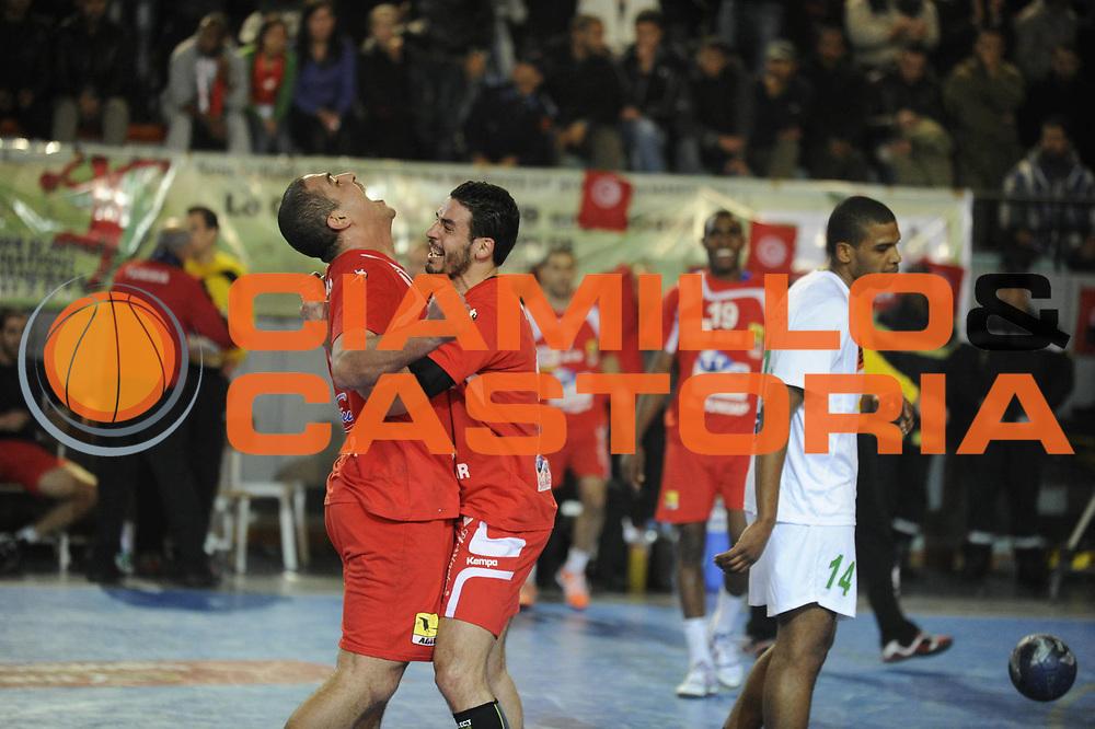 DESCRIZIONE : Hand Coupe Afrique des Nations Homme Maroc Rabat Finale<br /> GIOCATORE : ALOUINI Kamel TEJ Wissem<br /> SQUADRA : Tunisie<br /> EVENTO : FRANCE Hand CAN<br /> GARA : Algerie Tunisie<br /> DATA :20/01/2012<br /> CATEGORIA : Hand CAN<br /> SPORT : Handball<br /> AUTORE : JF Molliere <br /> Galleria : France Hand 2011-2012 Action<br /> Fotonotizia : CAN Hand RABAT Maroc Finale<br /> Predefinita :