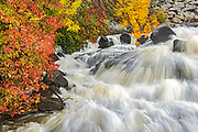 Waterfall located along the eastern shores of Lake of the Woods<br />Nestor Falls<br />Ontario<br />Canada