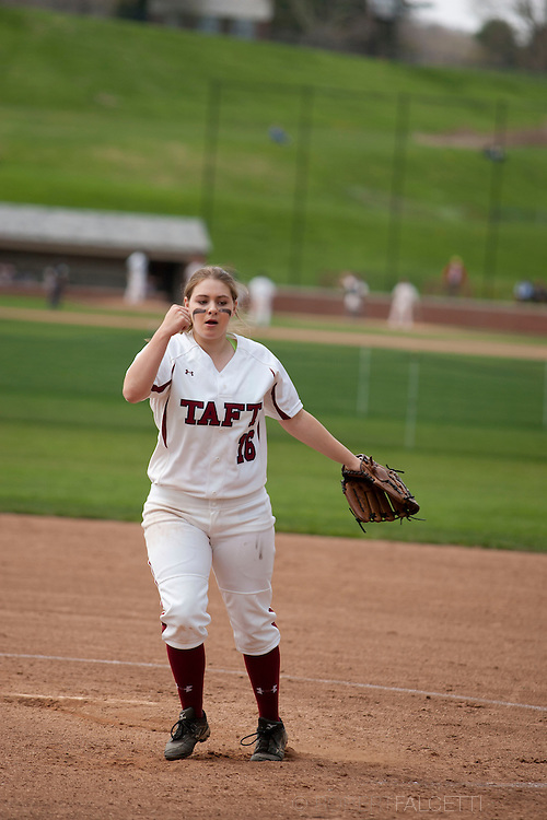 Taft School-May 7, 2014- Girls Varsity Softball v Kent. (Photo by Robert Falcetti)