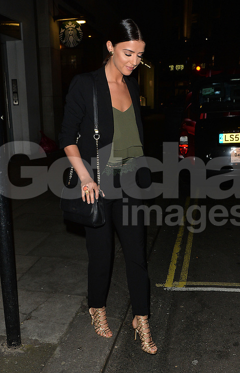 Lydia Bright and Lucy Mecklenburgh arriving at Sexy Fish restaurant in Mayfair, London, uK. 14/04/2016<br />BYLINE MUST READ : GOTCHAIMAGES.COM<br /><br />Copyright by &copy; Gotcha Images Ltd. All rights reserved.<br />Usage of this image is conditional upon the acceptance <br />of Gotcha Images Ltd, terms and conditions available at<br />www.gotchaimages.com