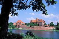 Europe´s largest gothic castle (13th century), residence of Teutonic Knights´ grand master. Malbork. Pomerania. Poland