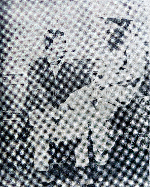James Taylor with his cousin Henry Striven.